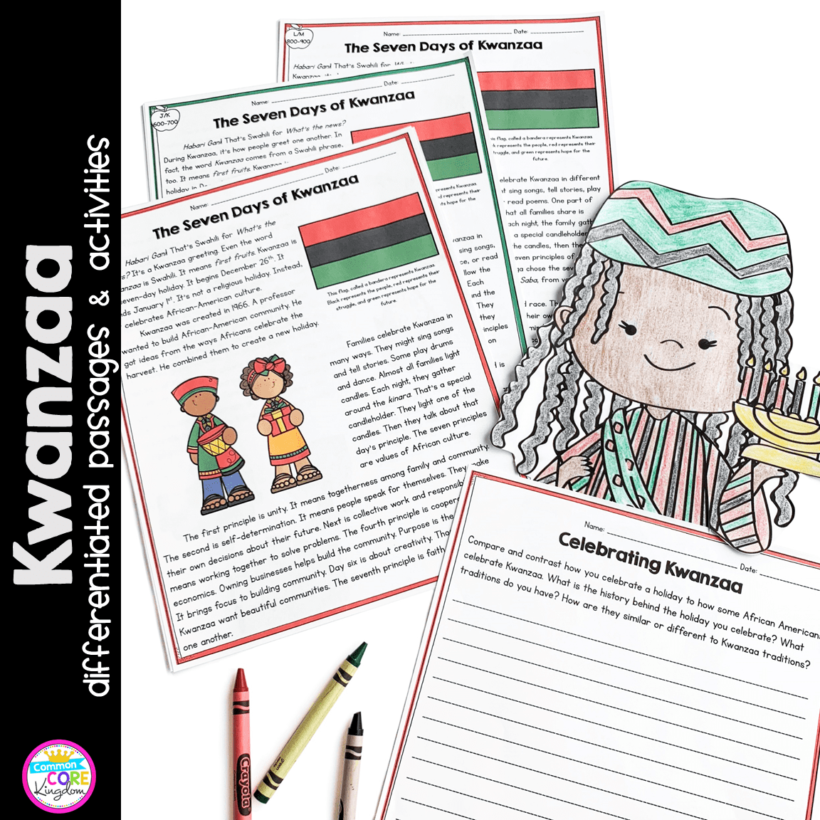 hight resolution of Kwanzaa Differentiated Reading and Writing Activities   Common Core Kingdom