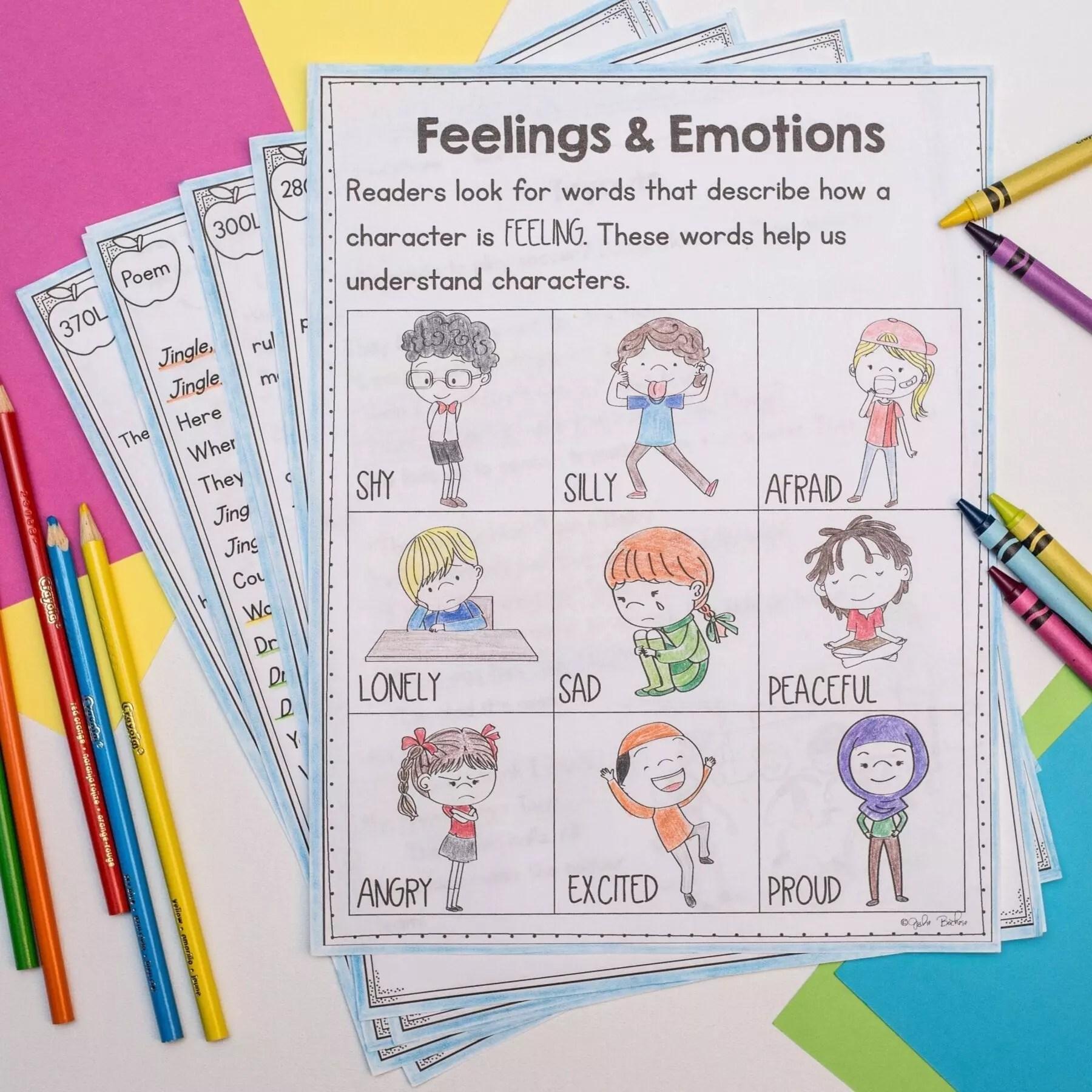 hight resolution of sensory words and feelings 1st grade rl14   google slides