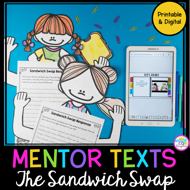 The Sandwich Swap Mentor Text Unit with Google Slides Distance Learning