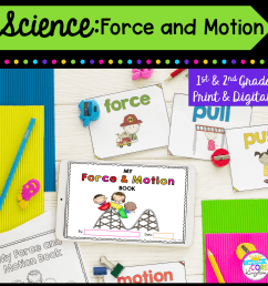 Force and Motion - 1st and 2nd Grade - Printable \u0026 Digital   Common Core  Kingdom [ 1800 x 1800 Pixel ]