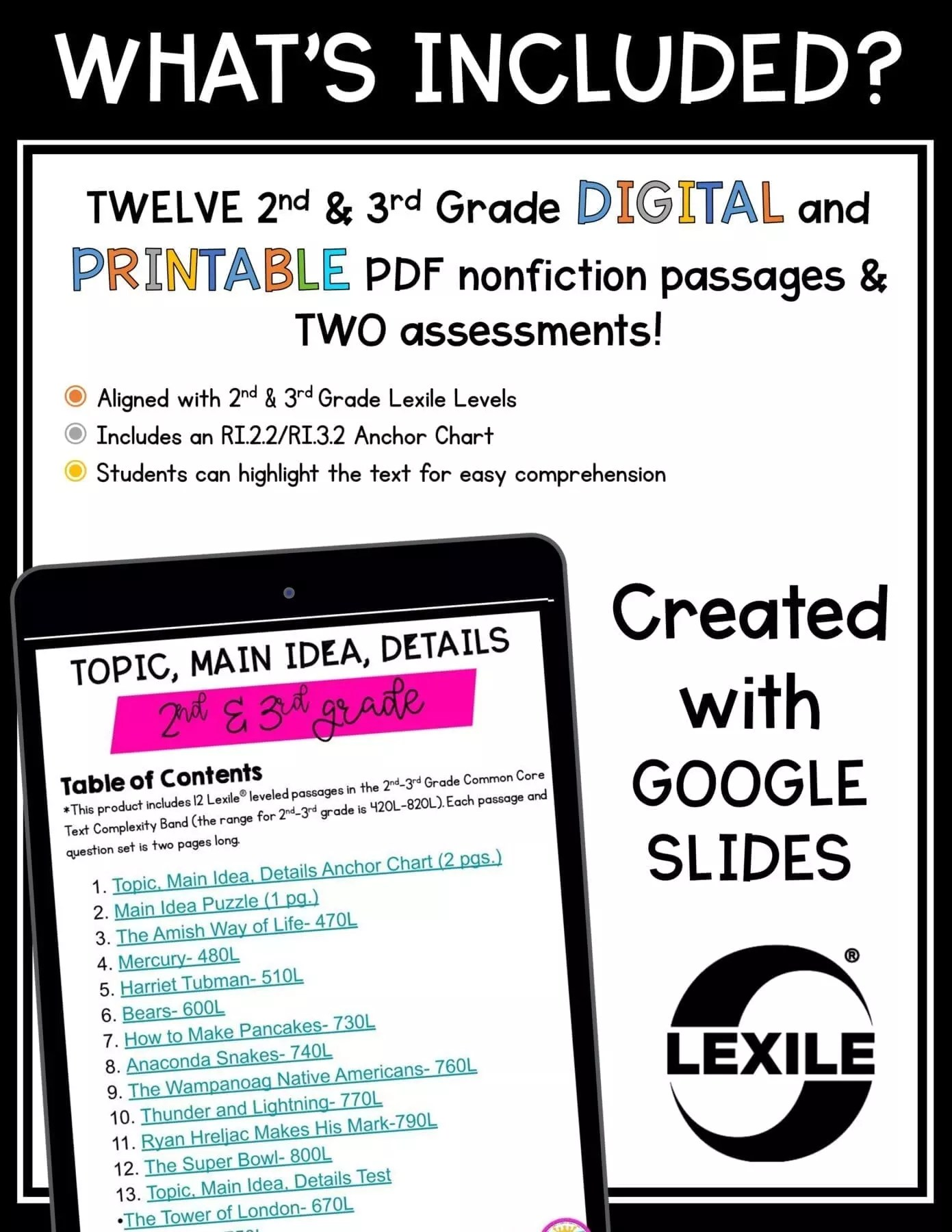 Main Idea Details Ri 2 2 Ri 3 2 Printable Digital Google Slides Distance Learning Pack Common Core Kingdom