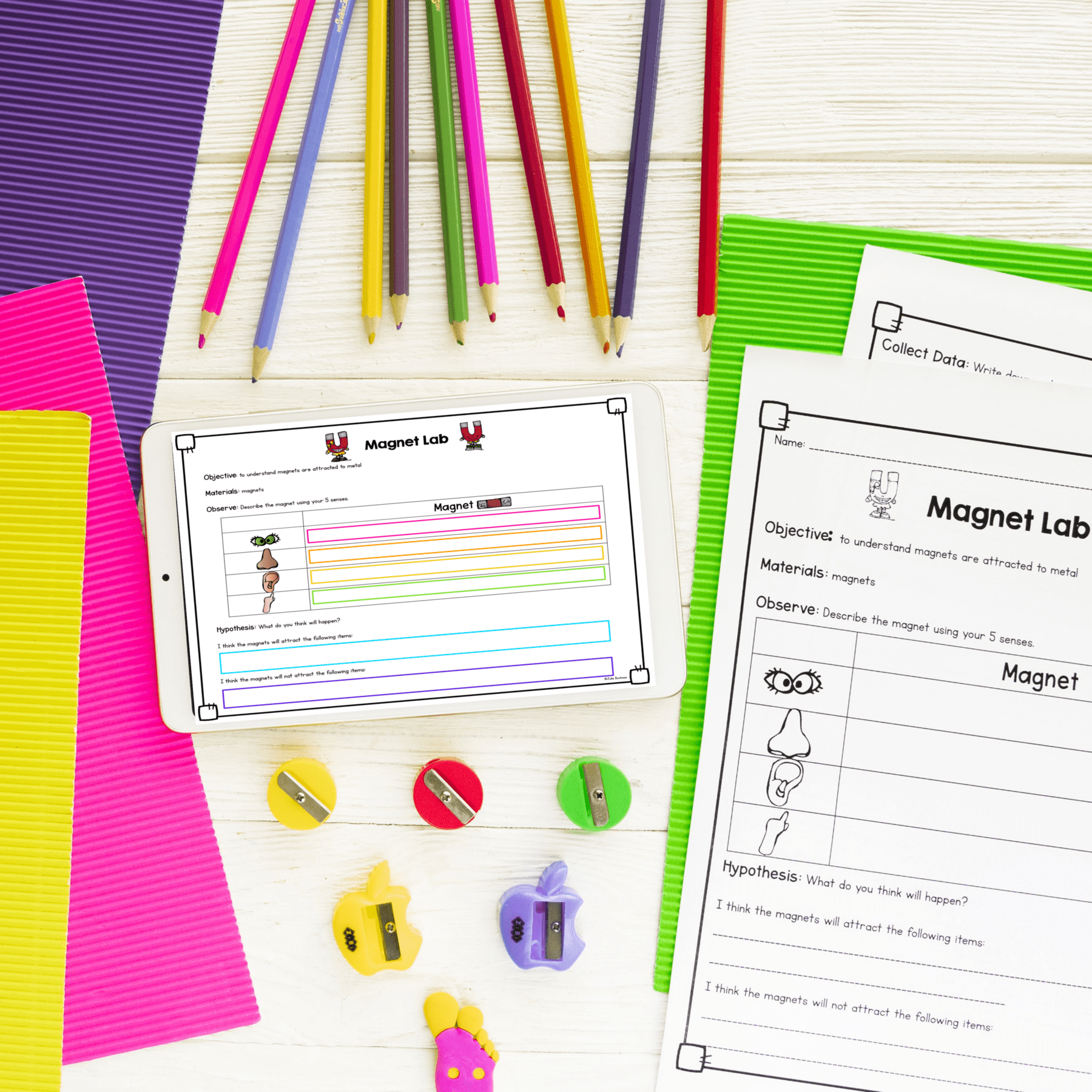 Magnets Mini Unit- 1st \u0026 2nd Grade - Printable \u0026 Digital   Common Core  Kingdom [ 1800 x 1800 Pixel ]