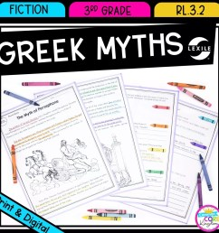 Recount Stories: Greek Myths for 3rd Grade   Common Core Kingdom [ 1800 x 1800 Pixel ]