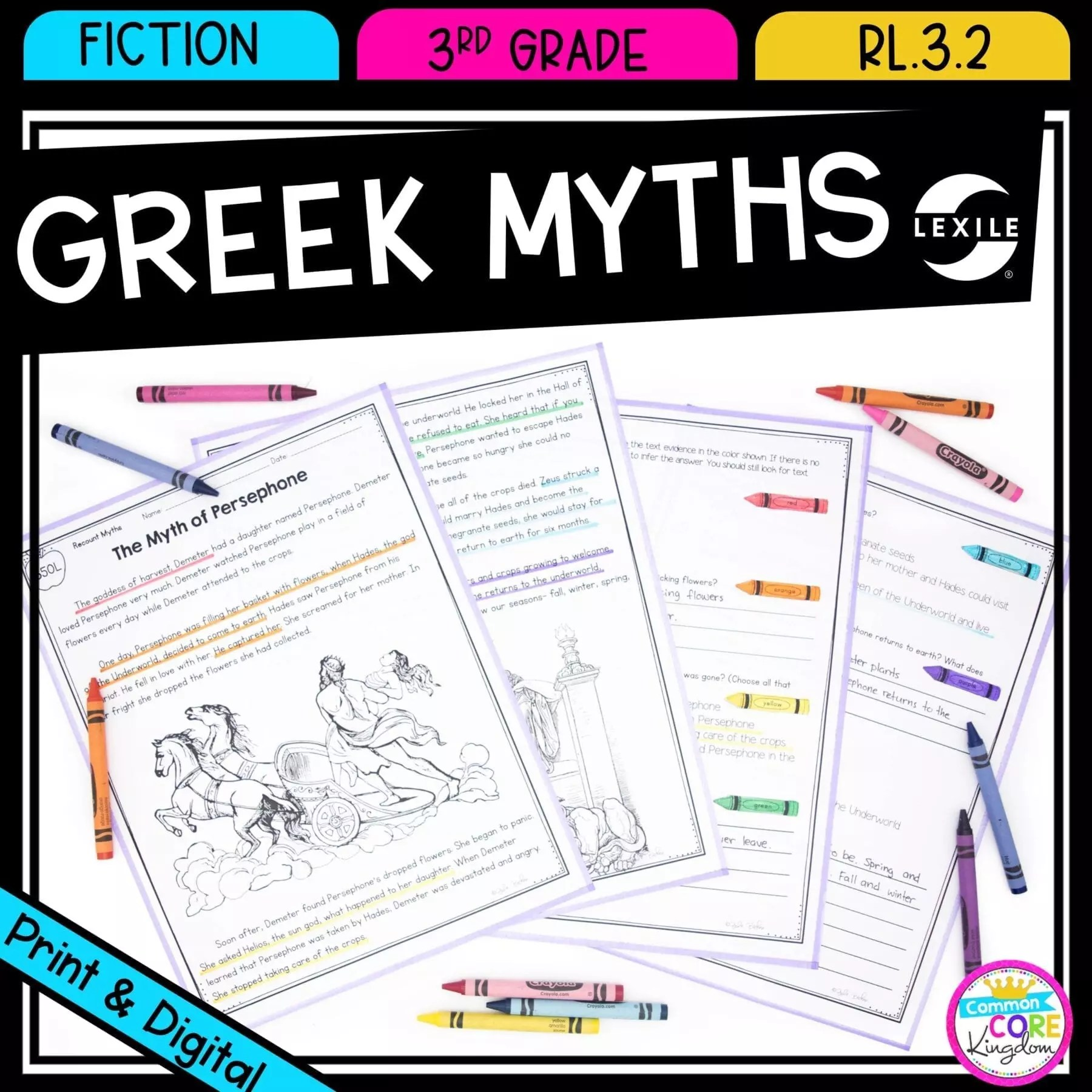 hight resolution of Recount Stories: Greek Myths for 3rd Grade   Common Core Kingdom
