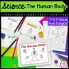 Science: The Human Body for 1st & 2nd Grade Cover showing printable and digital worksheets