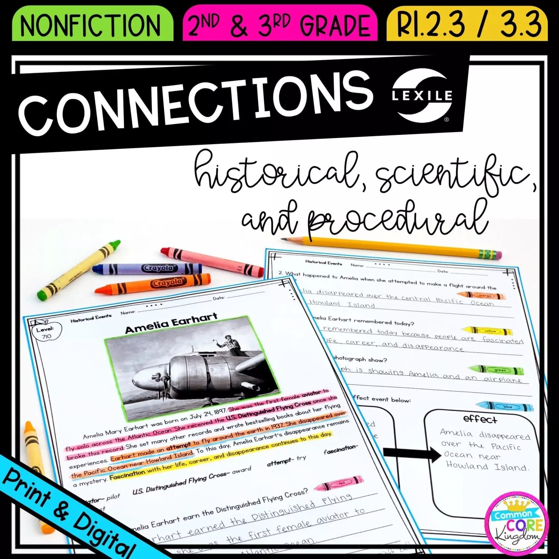 hight resolution of Making Connections RI.2.3 RI.3.3   Common Core Kingdom