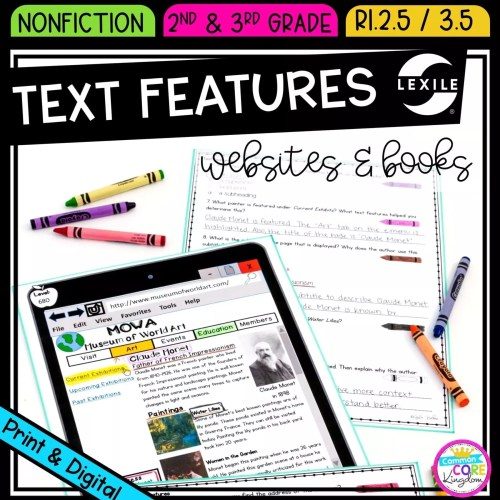 small resolution of Text Features in Websites and Books   Common Core Kingdom