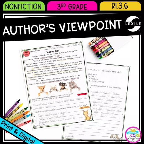 small resolution of 3rd grade Author's Viewpoint in Nonfiction RI.3.6  Common Core Kingdom