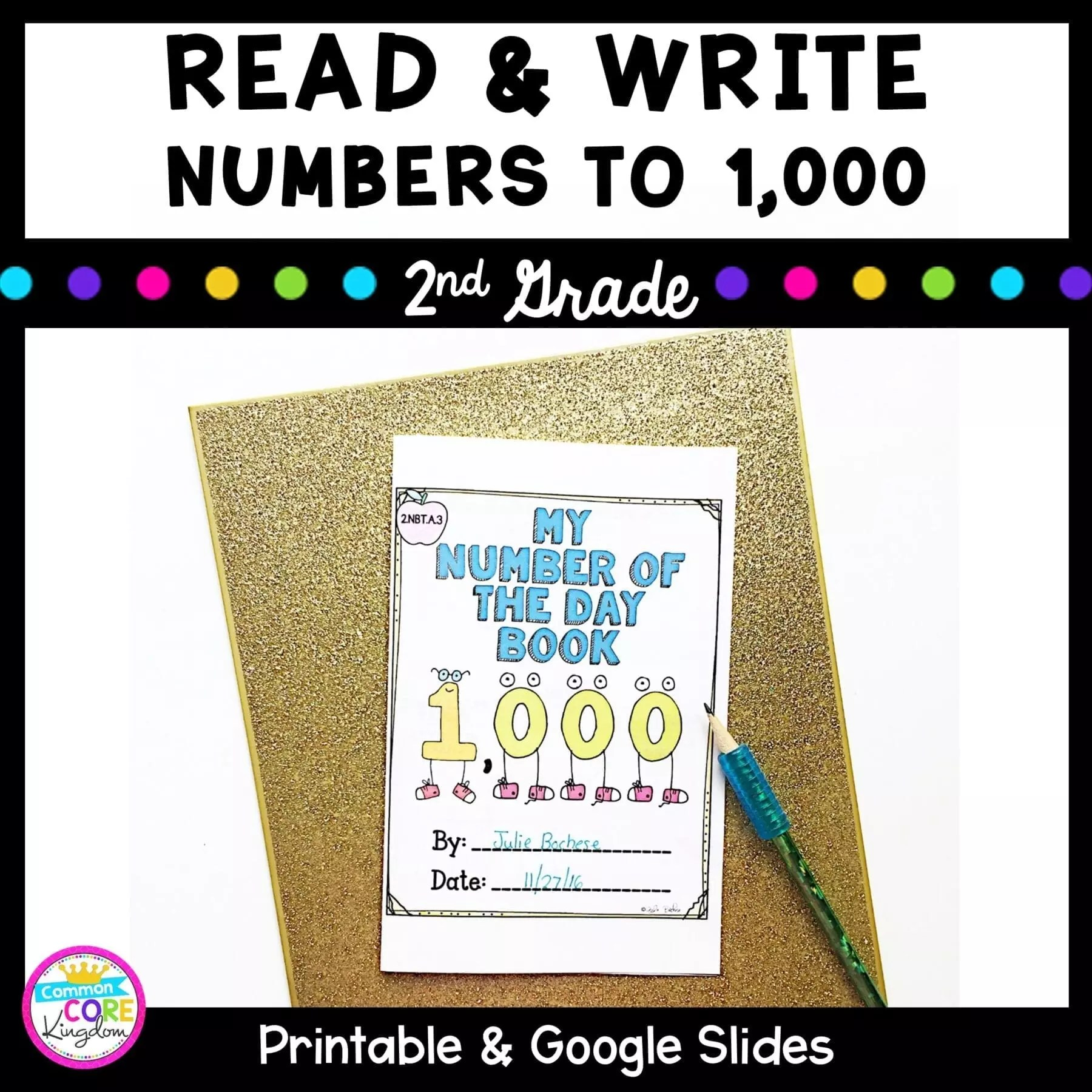 2.NBT.A.3- Read and Write Numbers to 1000   2nd Grade   Common Core [ 1800 x 1800 Pixel ]