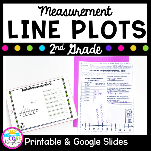 small resolution of Line Plots \u0026 Measurement Data- 2nd Grade 2.MD.D.9 Google Slides Distance  Learning Pack   Common Core Kingdom