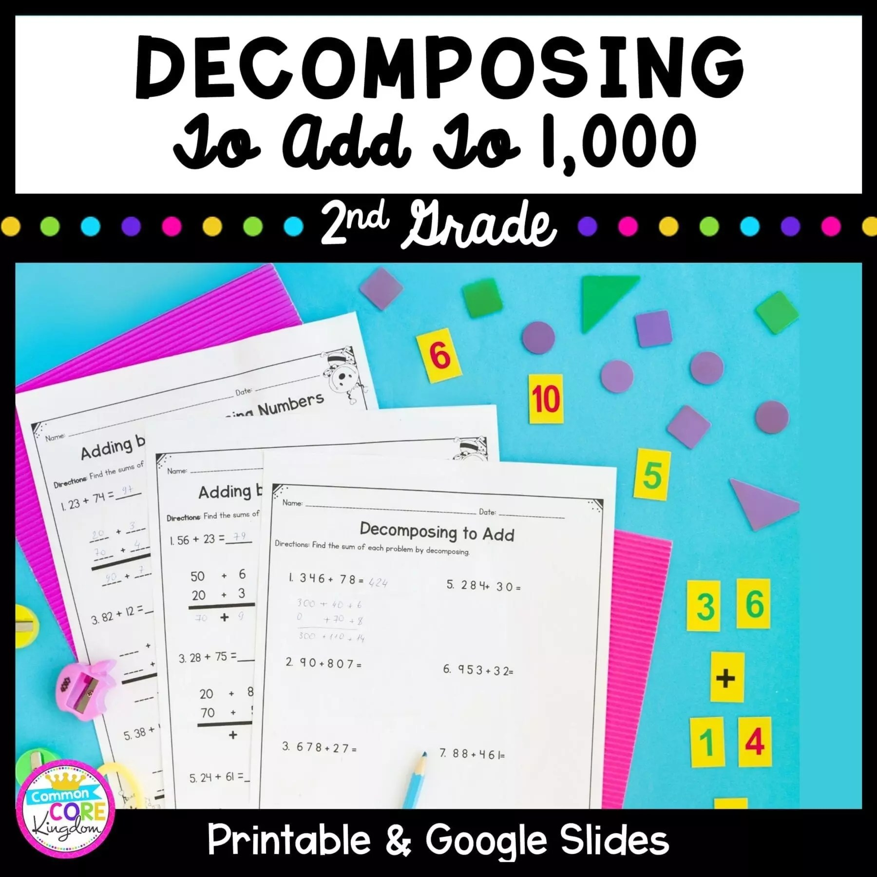 hight resolution of Decomposing Numbers to Add to 1