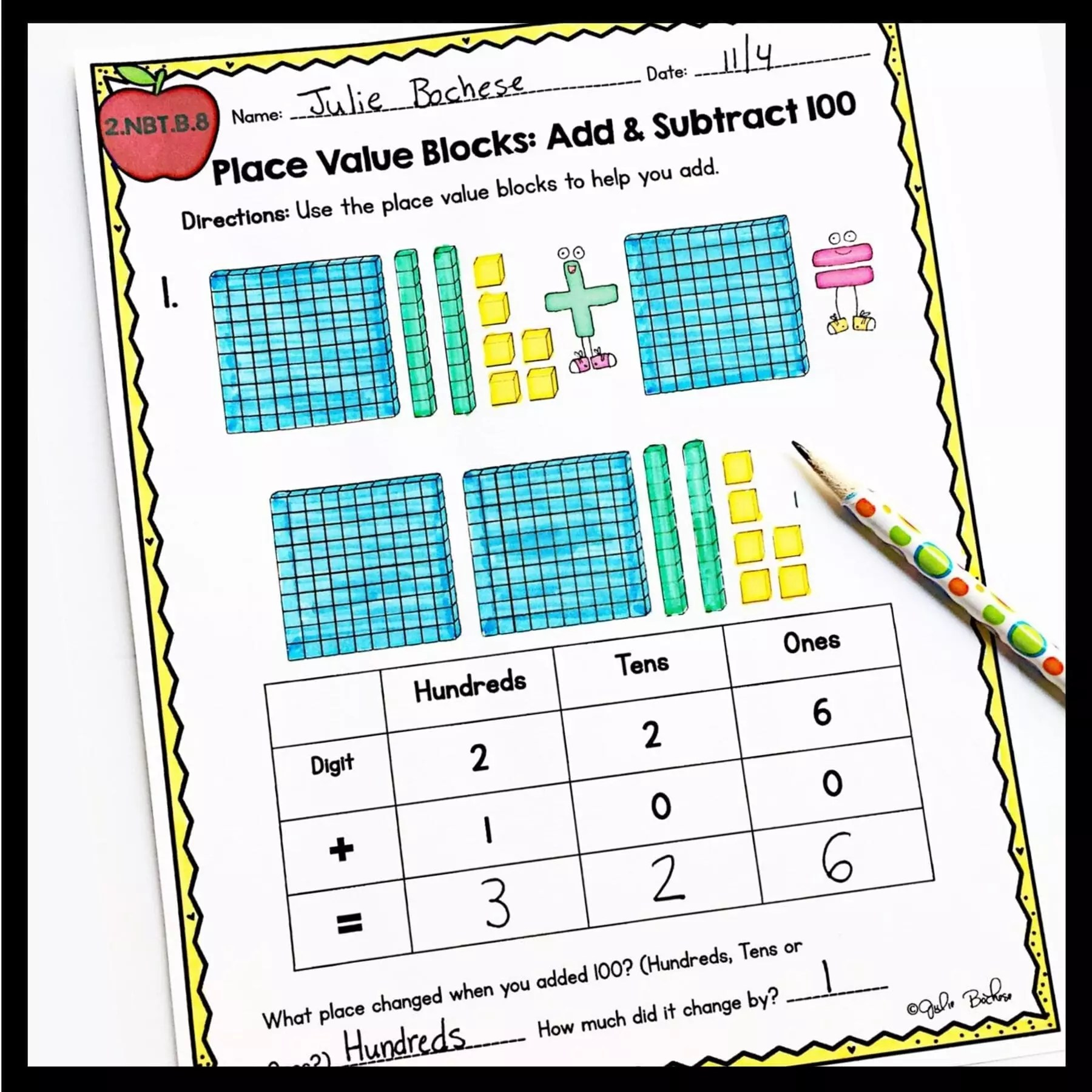 hight resolution of Add and Subtract 10 and 100 - 2nd Grade 2.NBT.B.8 Google Slides Distance  Learning   2nd grade   Common Core Math