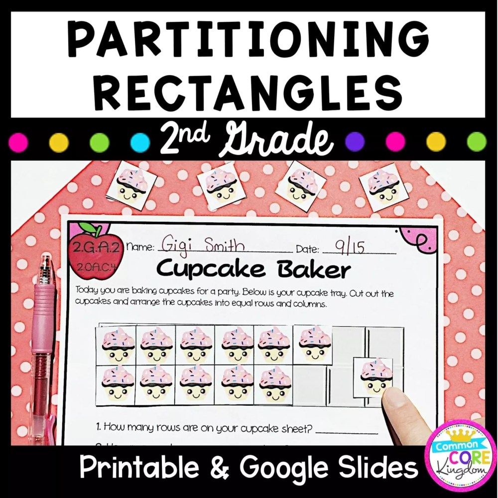 medium resolution of Partitioning Rectangles 2nd Grade - 2.GA.2 Google Slides Distance Learning  Pack