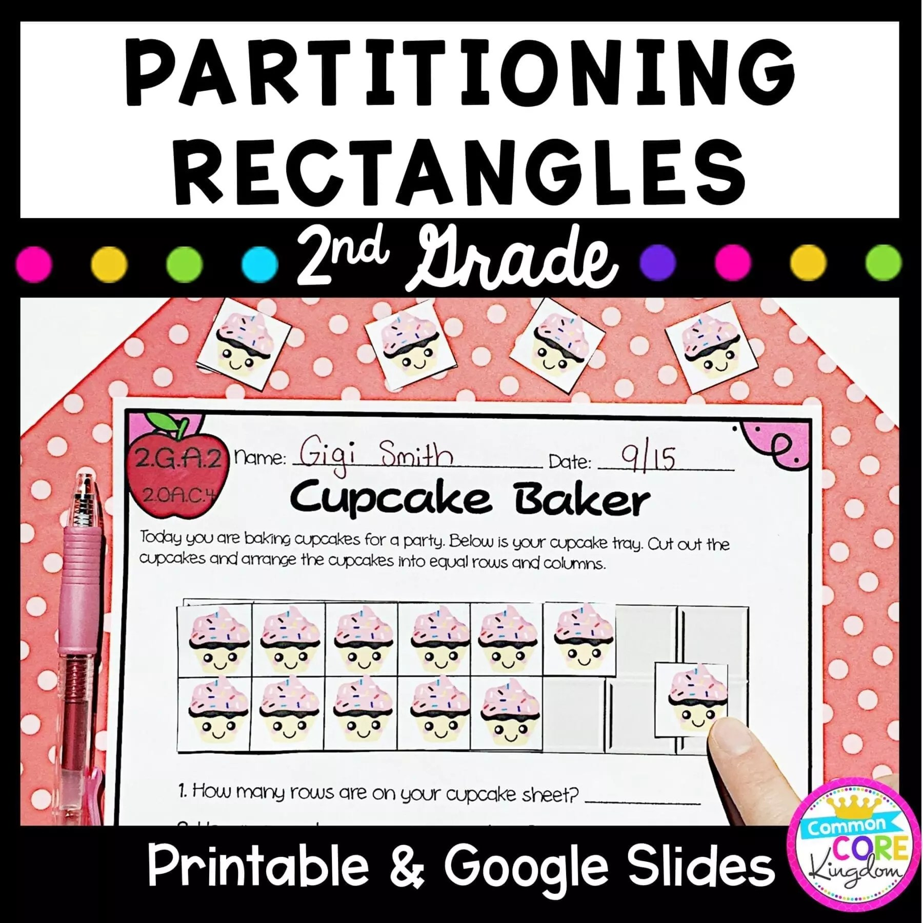 hight resolution of Partitioning Rectangles 2nd Grade - 2.GA.2 Google Slides Distance Learning  Pack