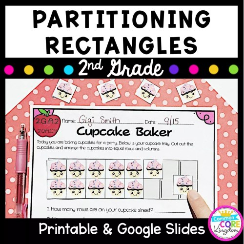 small resolution of Partitioning Rectangles 2nd Grade - 2.GA.2 Google Slides Distance Learning  Pack