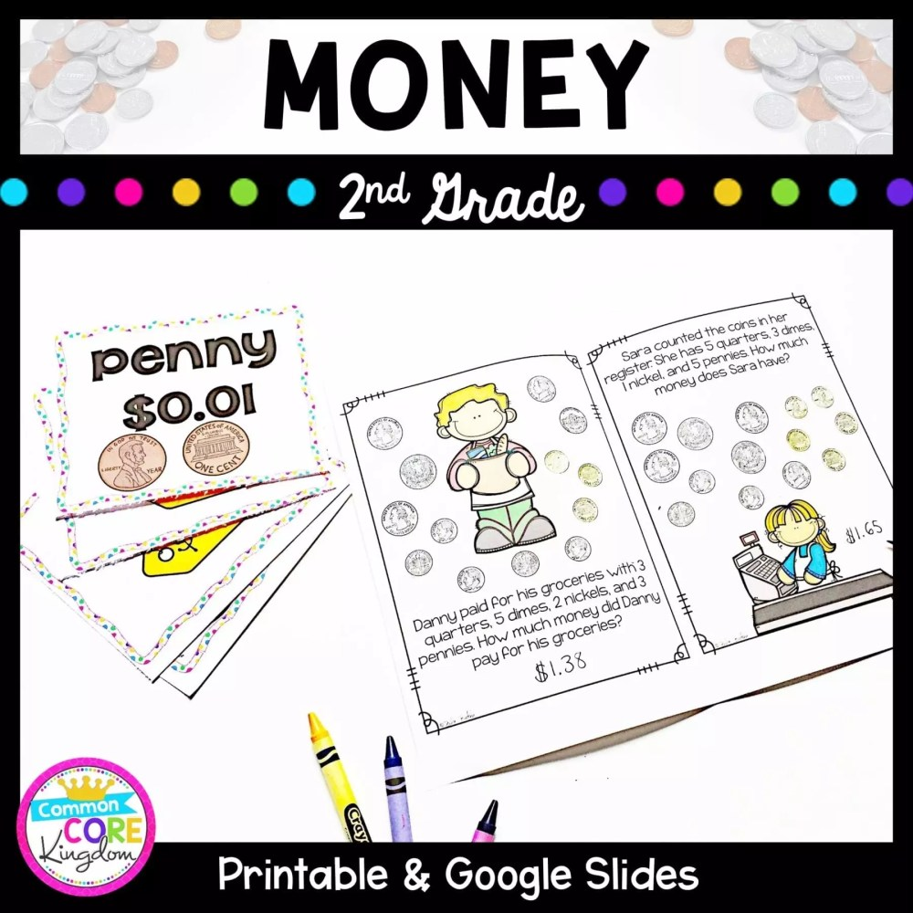 medium resolution of Money - 2nd Grade Math 2.MD.C.8 - Google Slides Distance Learning Pack   Common  Core Kingdom   Math Skills