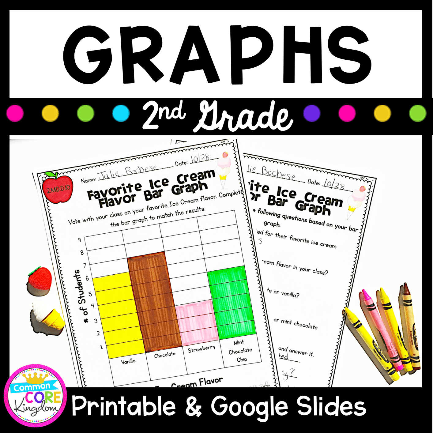 Graphs - 2nd Grade 2.MD.D.10 with PDF \u0026 Google Slides Distance Learning  Pack   Common Core Kingdom [ 1414 x 1414 Pixel ]