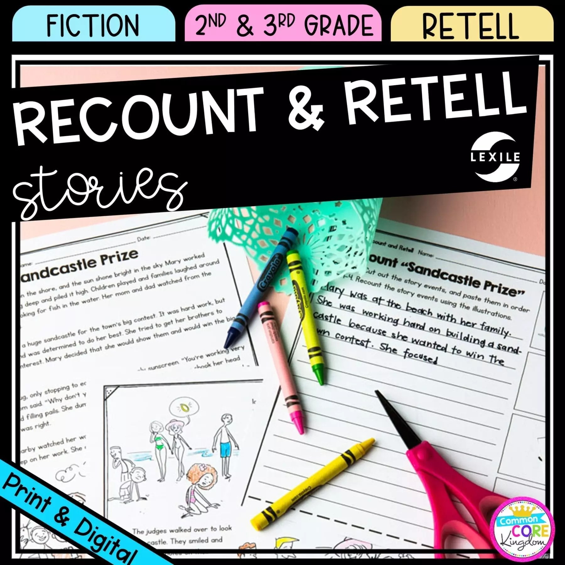 Recount and Retell Stories 2nd \u0026 3rd Grade - Google Distance Learning    Common Core Kingdom [ 1800 x 1800 Pixel ]
