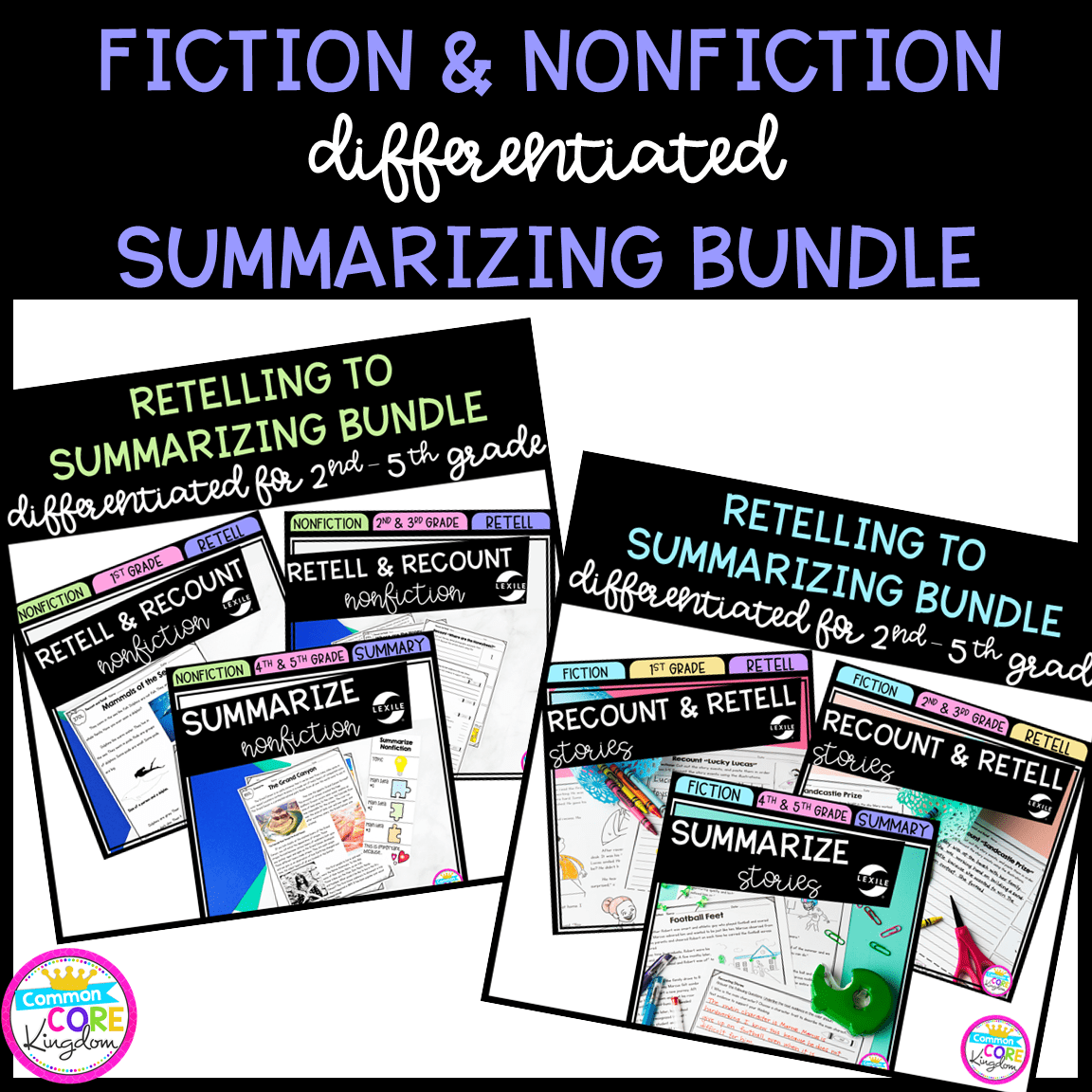 Summary Differentiated Bundle Fiction and Nonfiction - Google Distance  Learning   Common Core Kingdom [ 1152 x 1152 Pixel ]