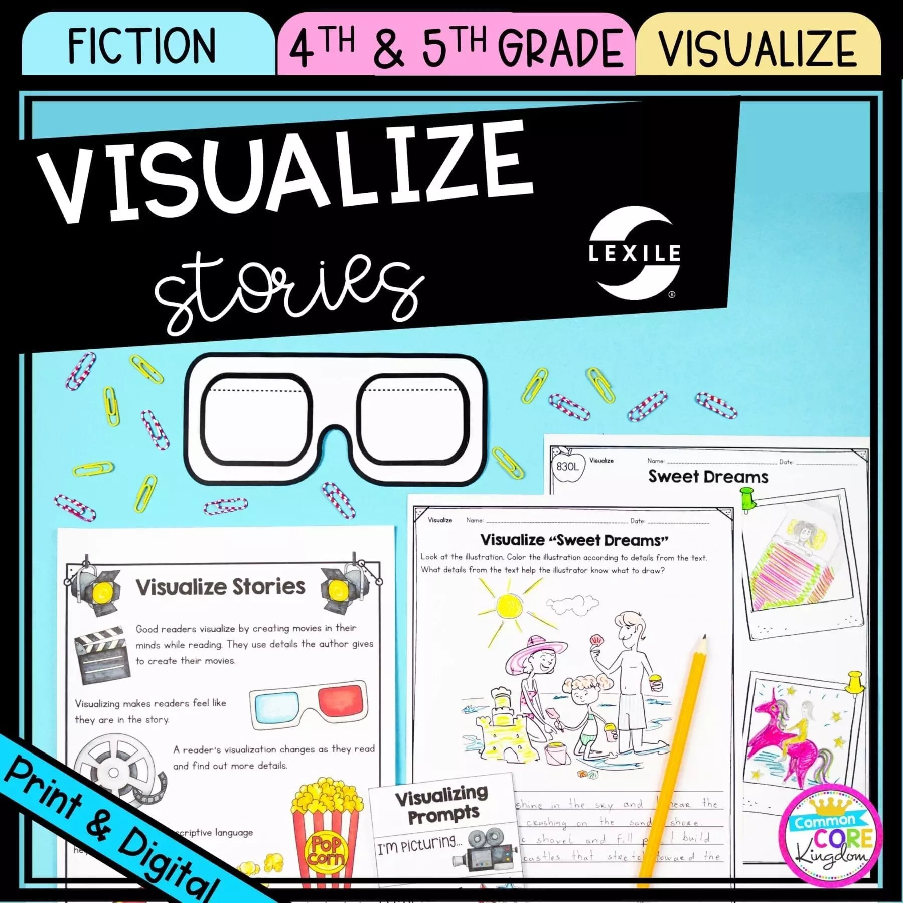 hight resolution of Visualizing Stories 4th \u0026 5th Grade - Printable \u0026 Digital - Google Slides  Distance Learning   Common Core Kingdom