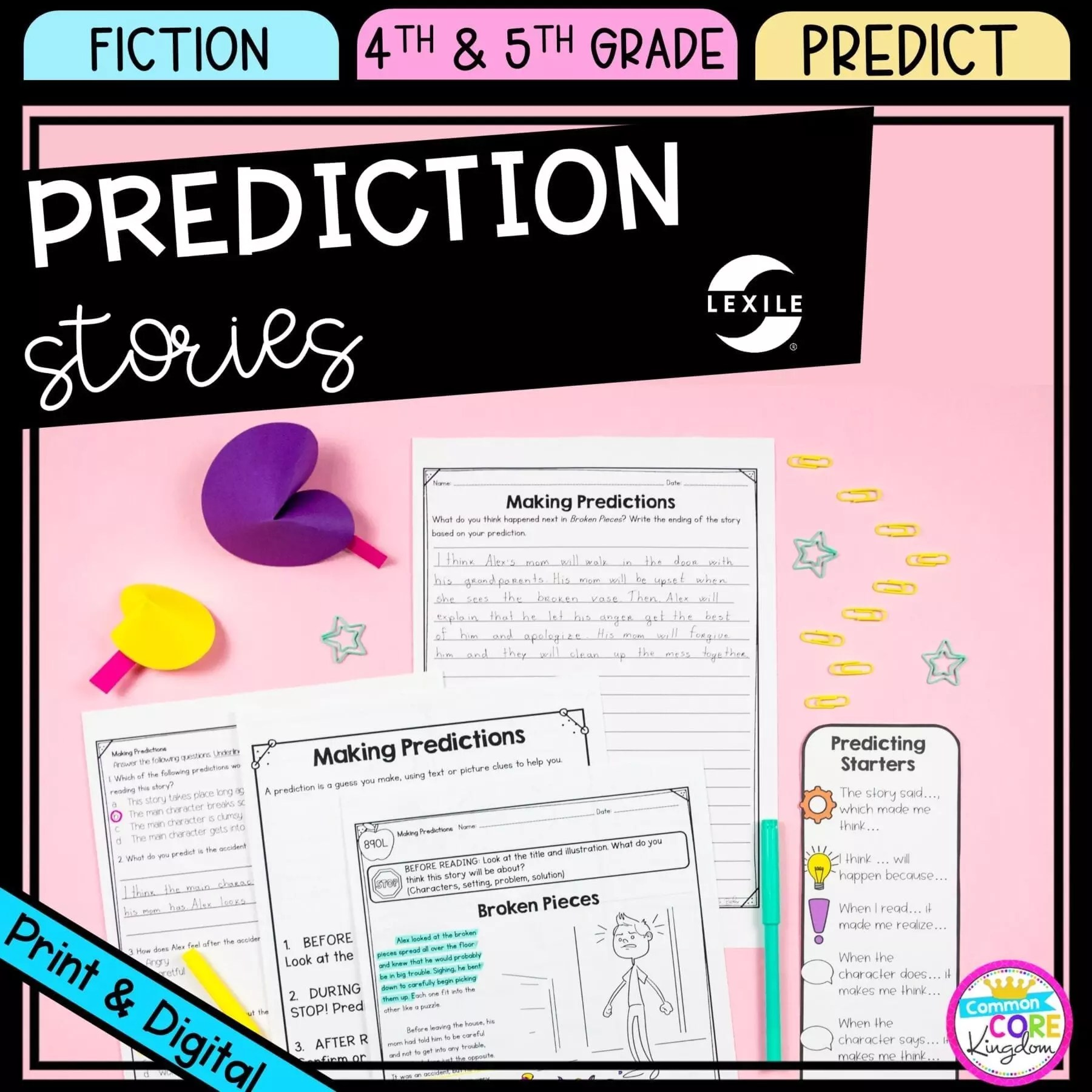 Making Predictions 4th \u0026 5th Grade - Google Distance Learning   Common Core  Kingdom [ 1800 x 1800 Pixel ]