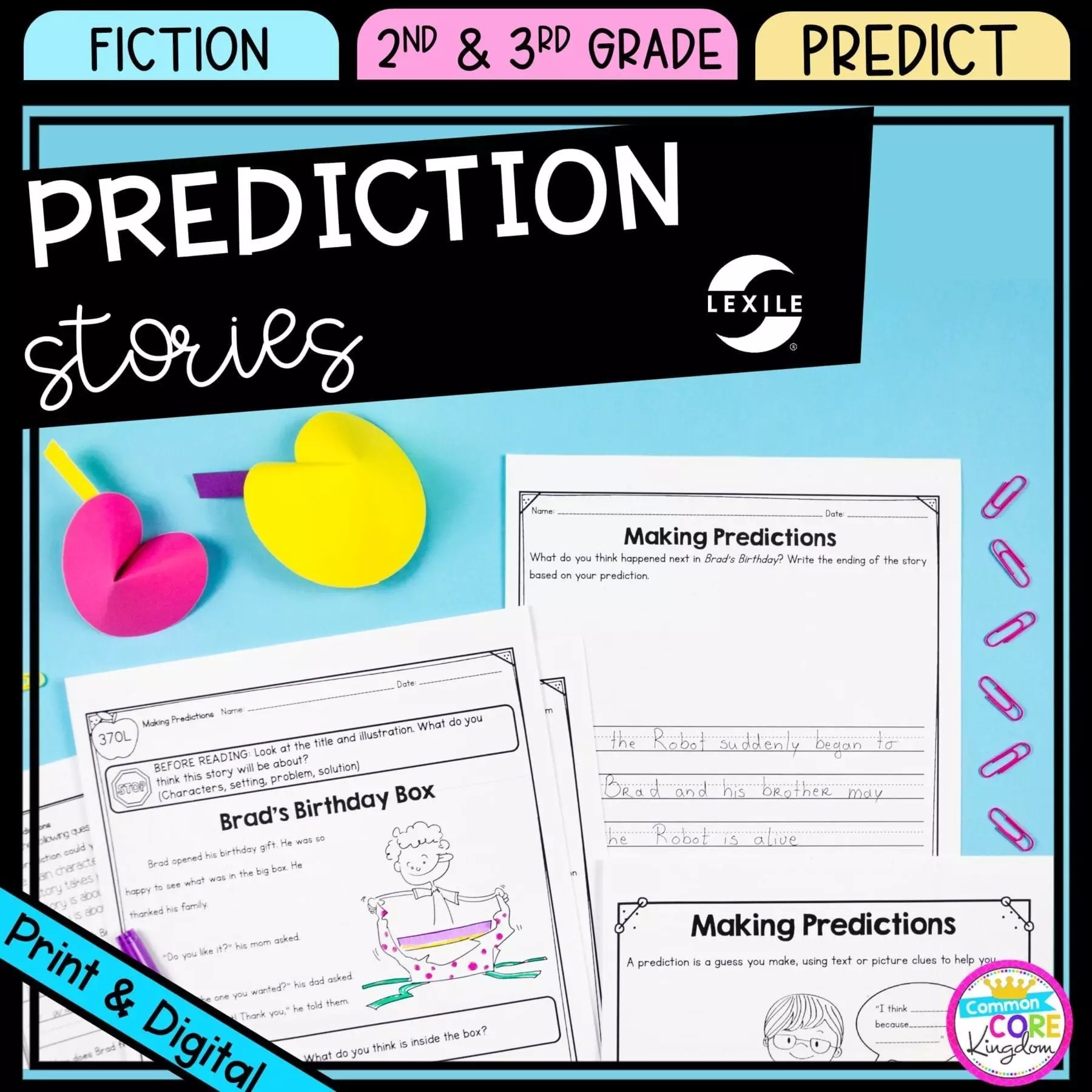 Making Predictions 2nd \u0026 3rd Grade - Google Distance Learning   Common Core  Kingdom [ 1800 x 1800 Pixel ]