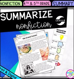 Summarize Nonfiction 4th \u0026 5th Grade - Google Distance Learning   Common  Core Kingdom [ 1800 x 1800 Pixel ]