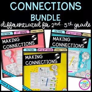 Making Connections Bundle cover for 1st - 5th Grades showing printable and digital worksheets