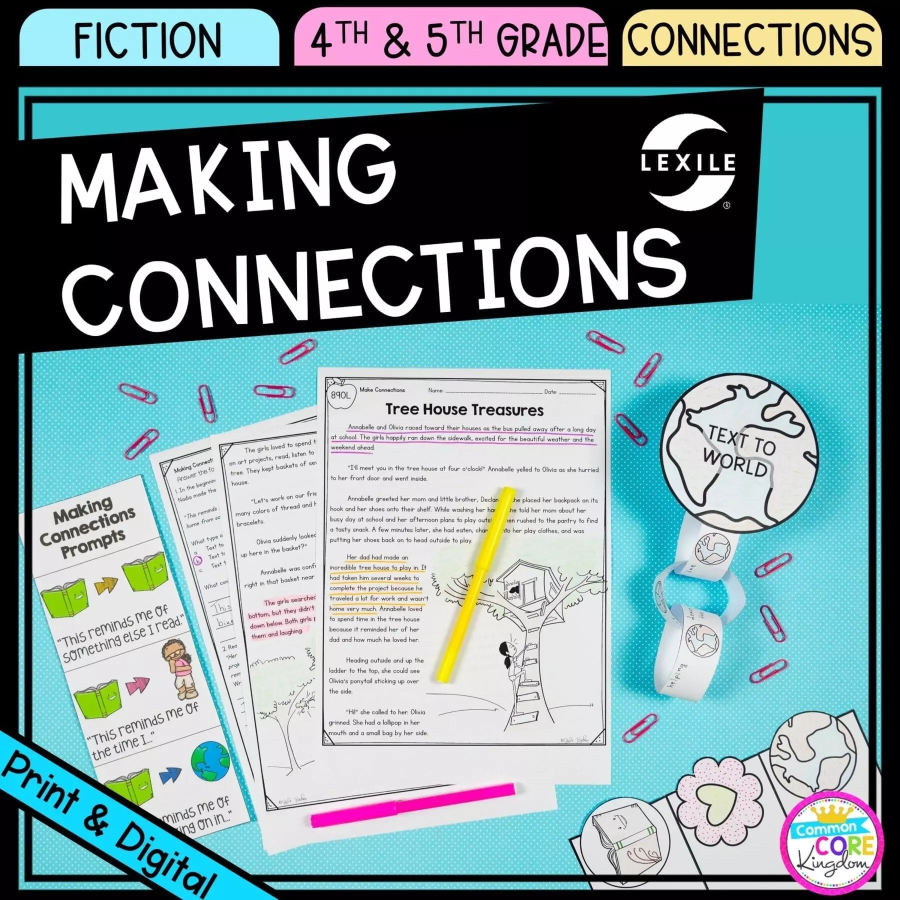 Making Connections 4th \u0026 5th Grade - Google Distance Learning   Common Core  Kingdom [ 1800 x 1800 Pixel ]