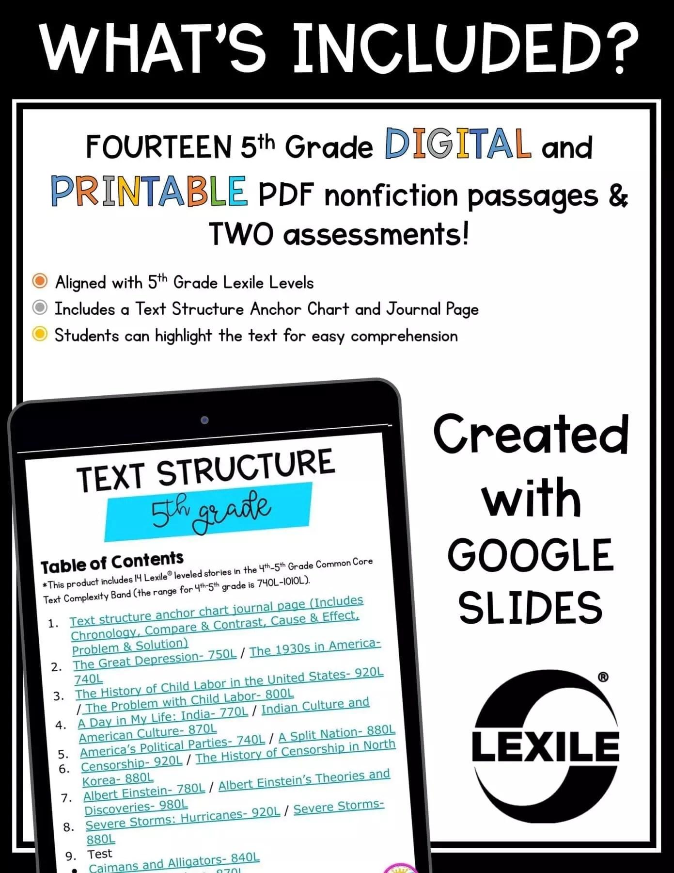 Compare \u0026 Contrast Text Structure 5th Grade  Common Core Kingdom [ 1800 x 1391 Pixel ]