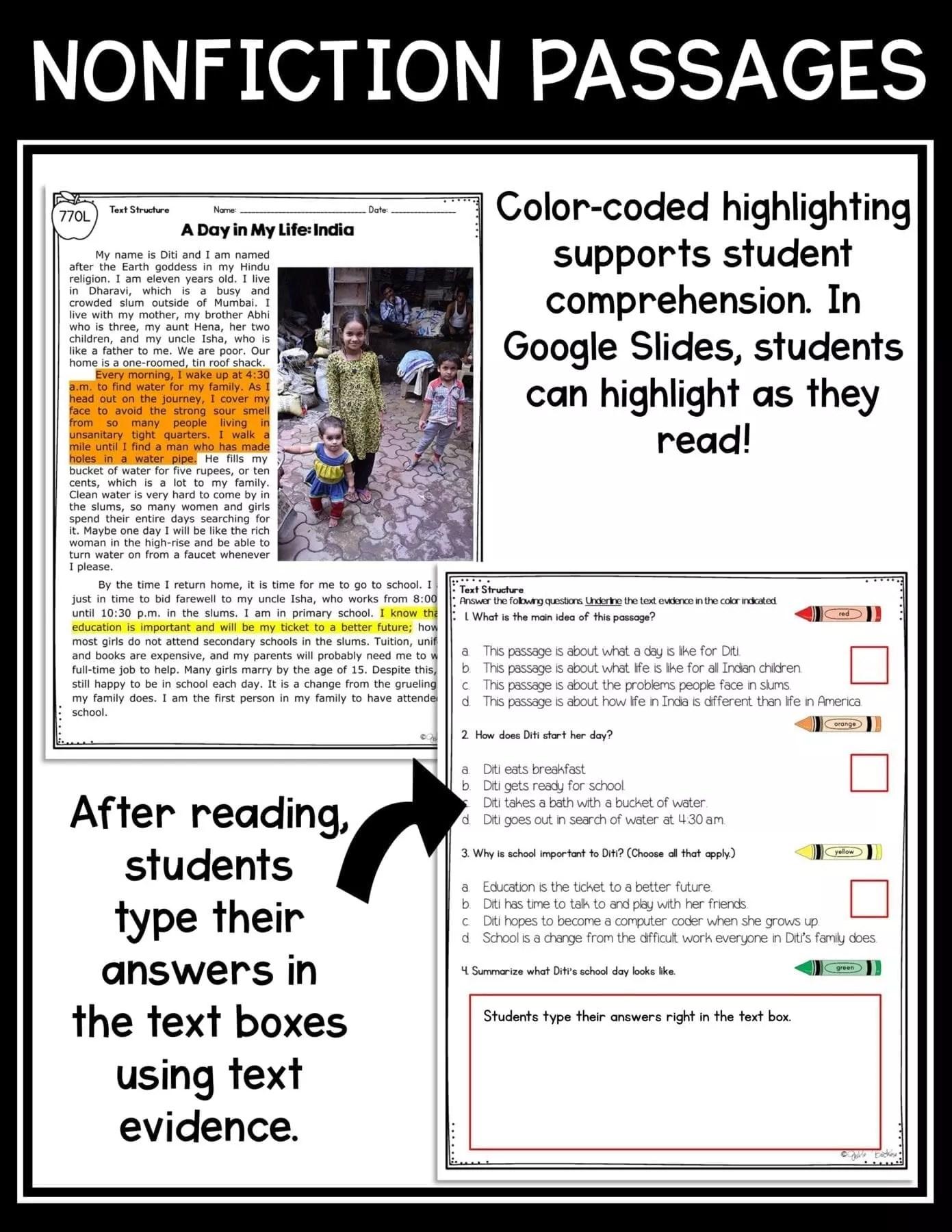 small resolution of Text Structure in Nonfiction 4th Grade   Common Core Kingdom