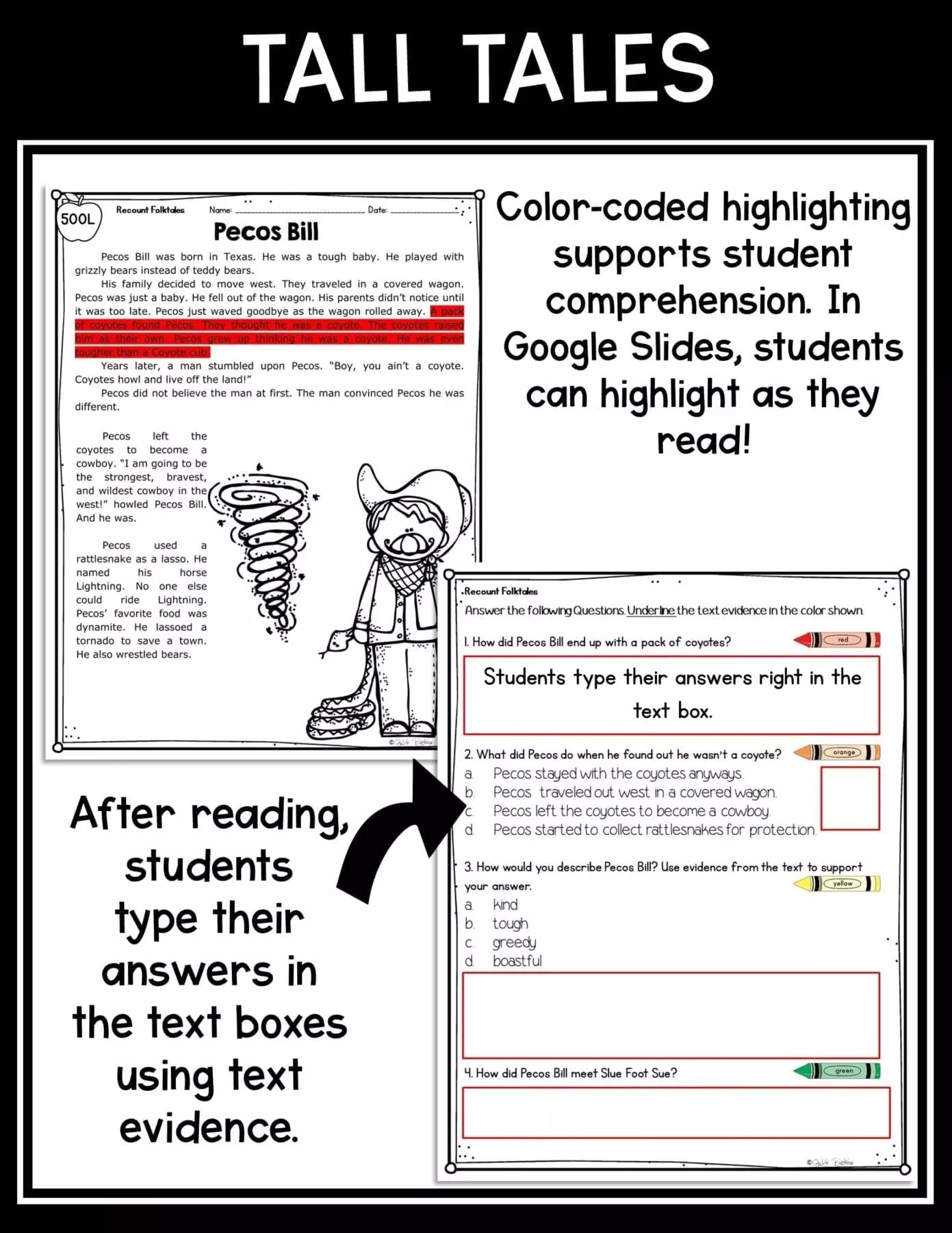 hight resolution of Recount Stories: Tall Tales 2nd \u0026 3rd Grade  Common Core Kingdom