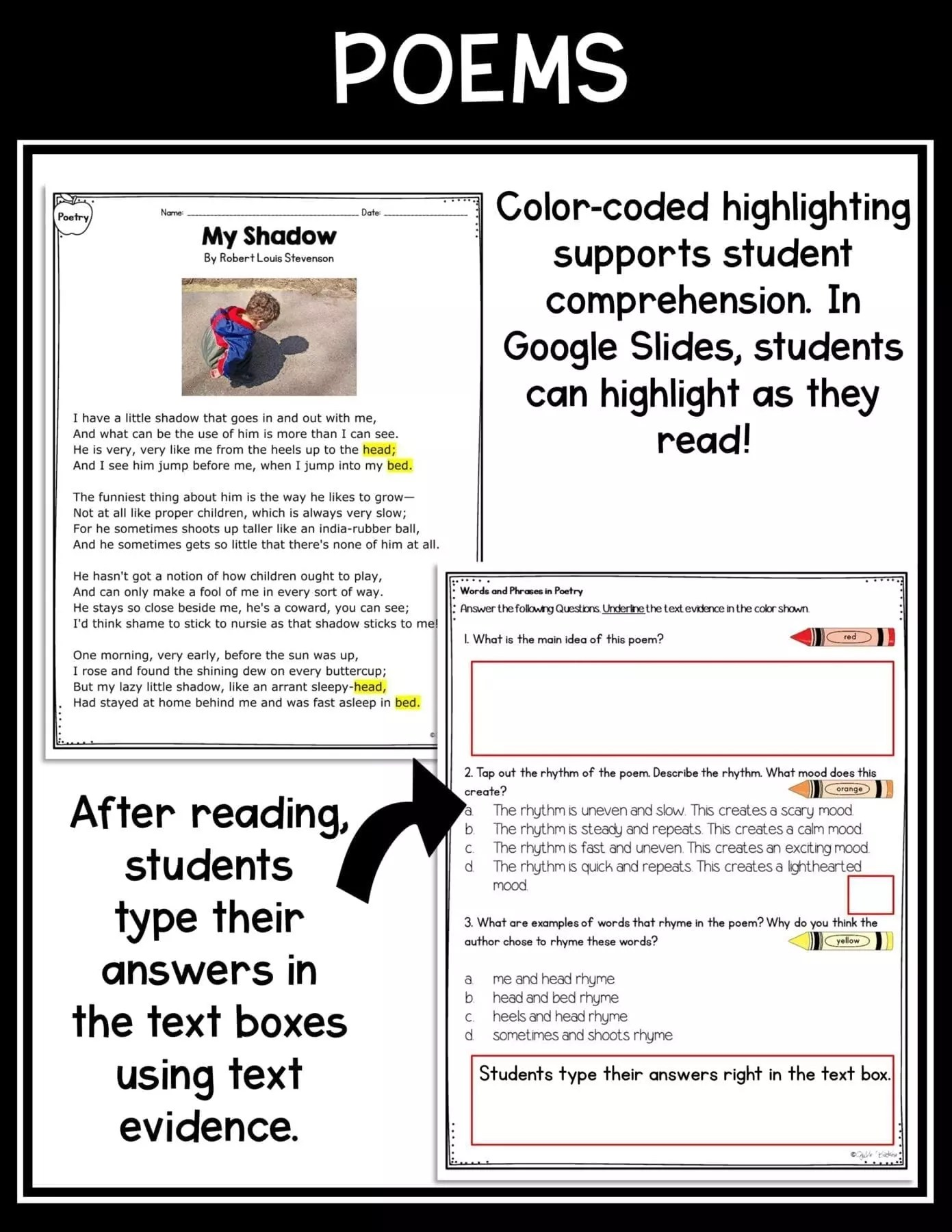 hight resolution of Poetry Words \u0026 Phrases RL.2.4   Common Core Kingdom