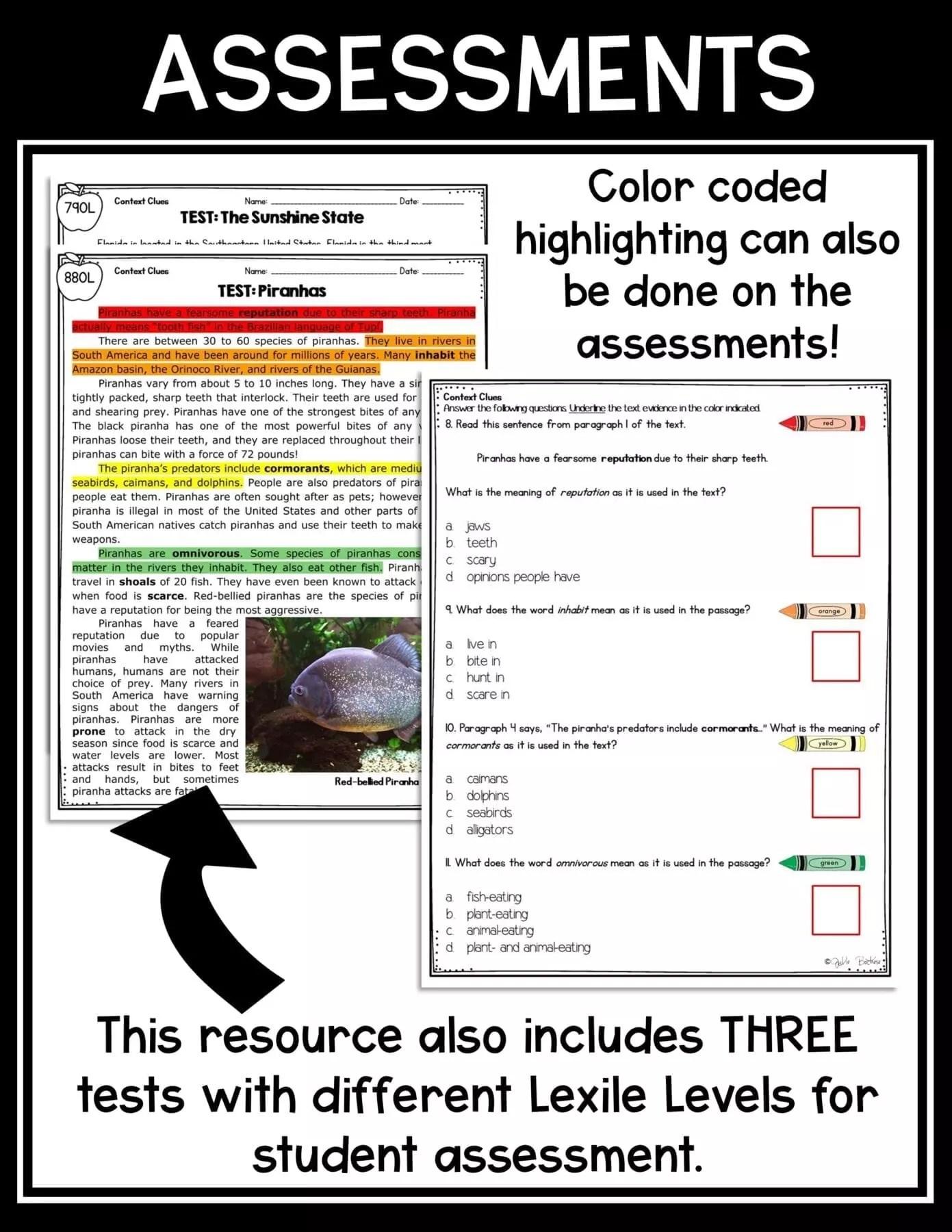 Context Clues in Nonfiction 4th \u0026 5th Grade   Common Core Kingdom [ 1800 x 1391 Pixel ]