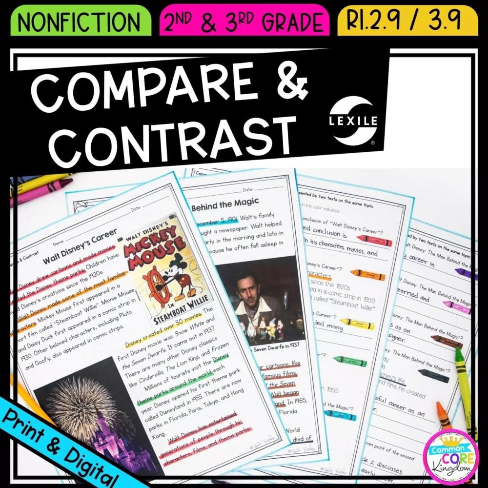 medium resolution of Compare \u0026 Contrast 2nd \u0026 3rd Grade   Common Core Kingdom