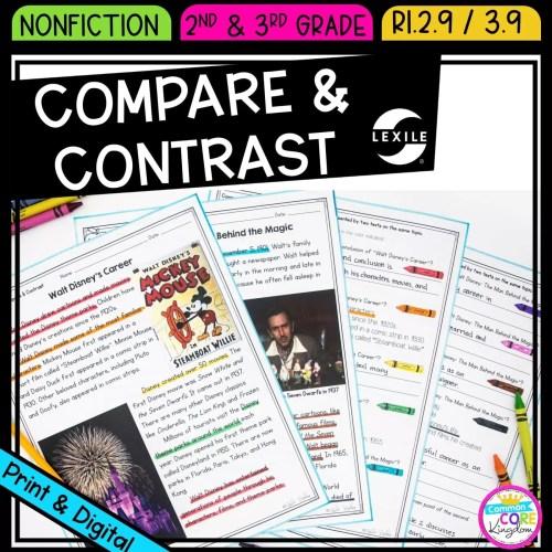 small resolution of Compare \u0026 Contrast 2nd \u0026 3rd Grade   Common Core Kingdom