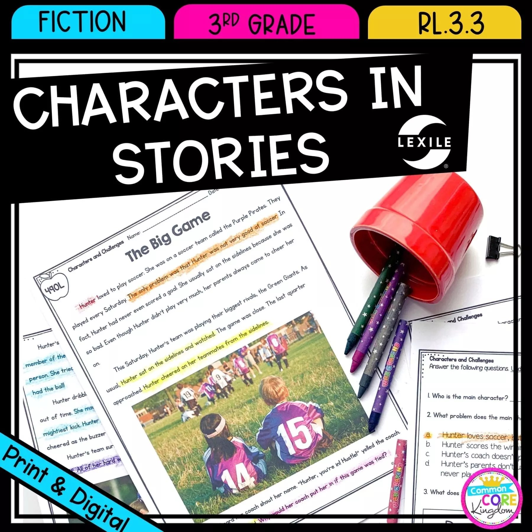 Describe Characters in Stories 3rd Grade RL.3.3   Common Core Kingdom [ 1800 x 1800 Pixel ]
