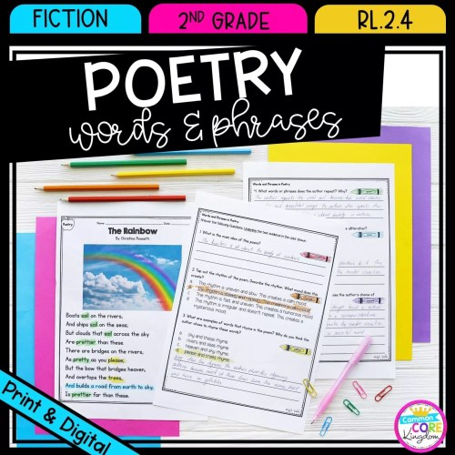 small resolution of Poetry Words \u0026 Phrases RL.2.4   Common Core Kingdom