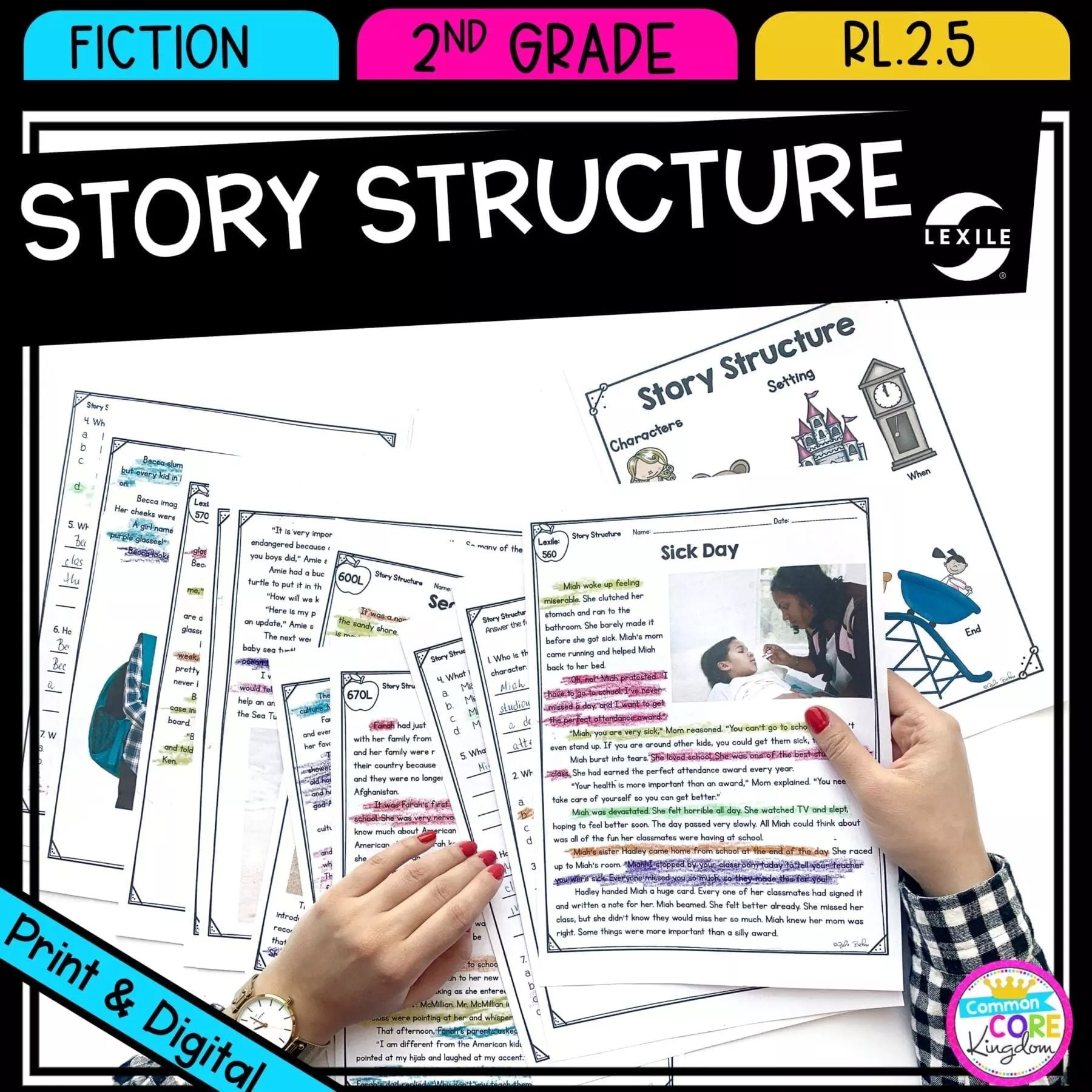 Story Structure 2nd Grade RL.2.5   Common Core Kingdom [ 1800 x 1800 Pixel ]
