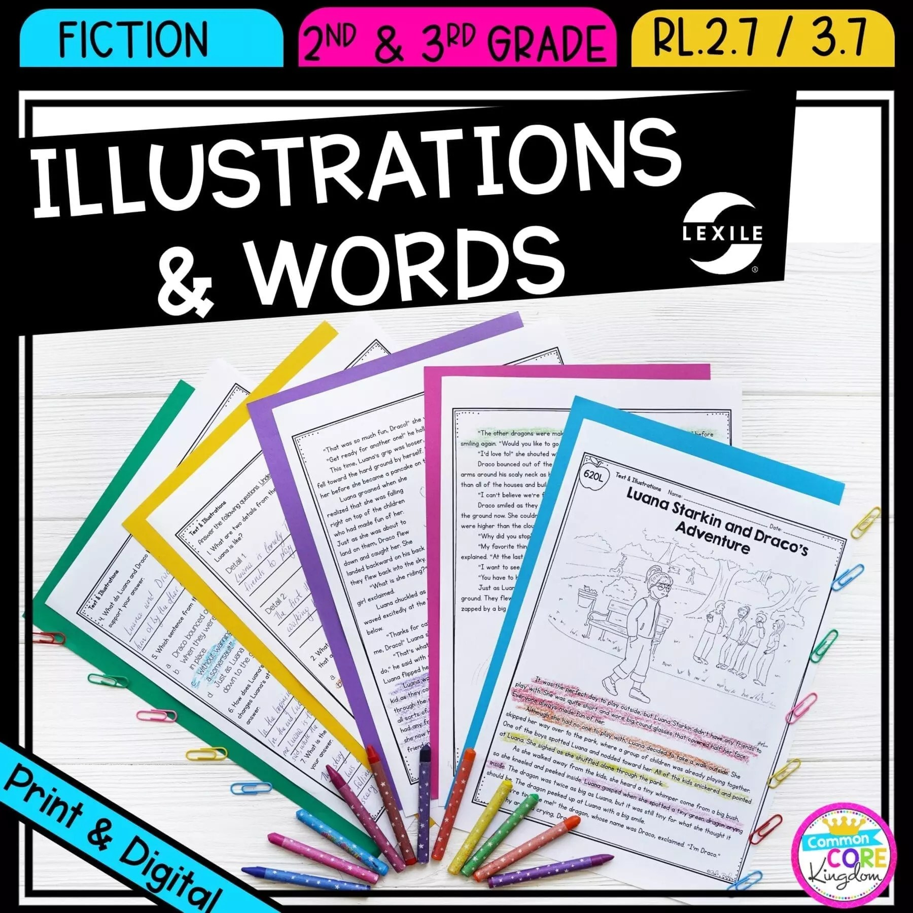 medium resolution of Illustrations \u0026 Words RL.2.7 RL.3.7   Common Core Kingdom