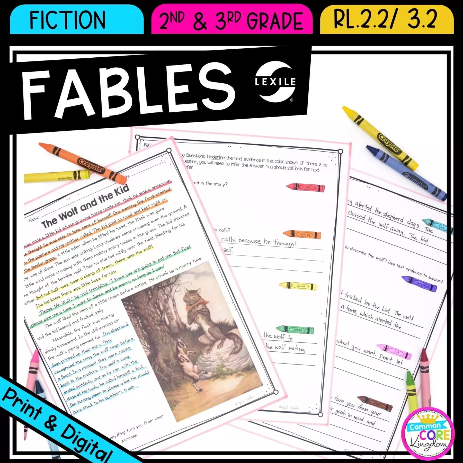 hight resolution of Recount Stories: Fables RL.2.2 RL.3.2   Common Core Kingdom