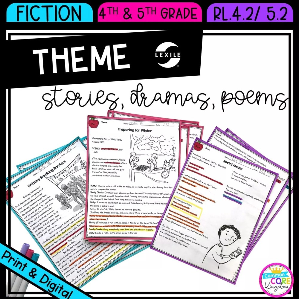 medium resolution of Theme for 4th \u0026 5th grade   Common Core Kingdom