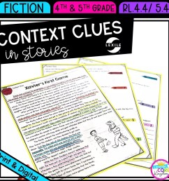 Context Clues in Stories RL.4.4 RL.5.4  Common Core Kingdom [ 1800 x 1800 Pixel ]