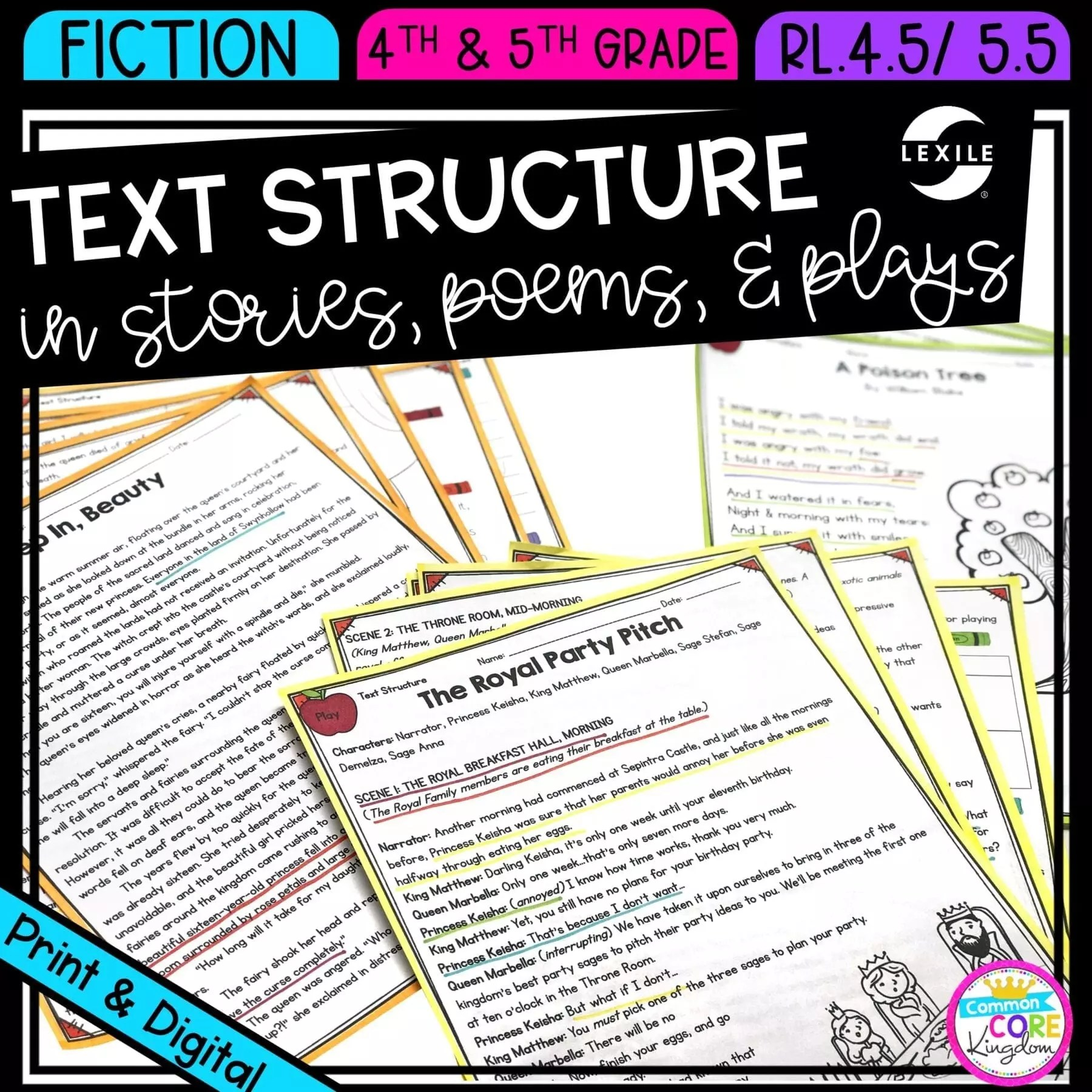 hight resolution of Literature Structure 4th \u0026 5th Grade   Common Core Kingdom