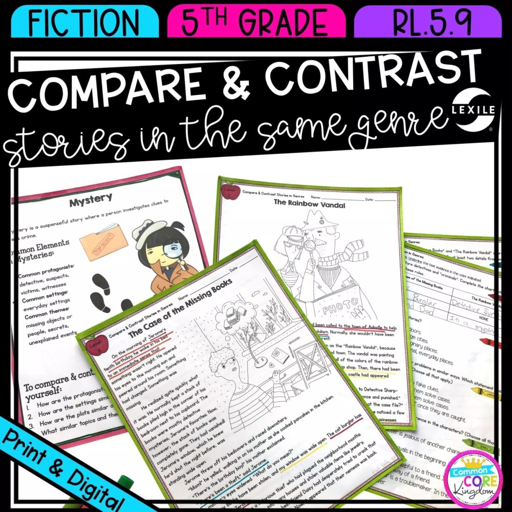 medium resolution of Compare Stories in Genres RL.5.9   Common Core Kingdom