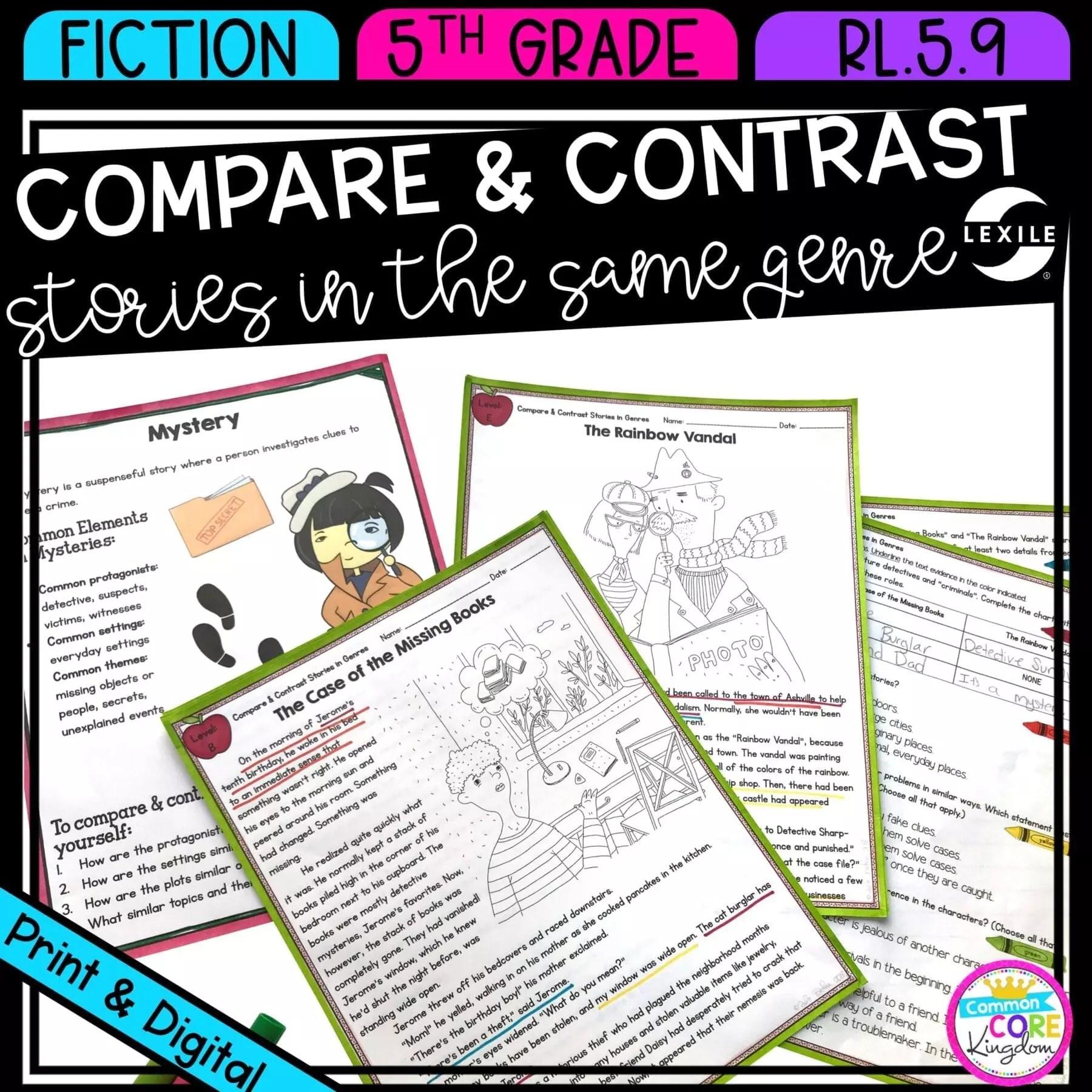 hight resolution of Compare Stories in Genres RL.5.9   Common Core Kingdom