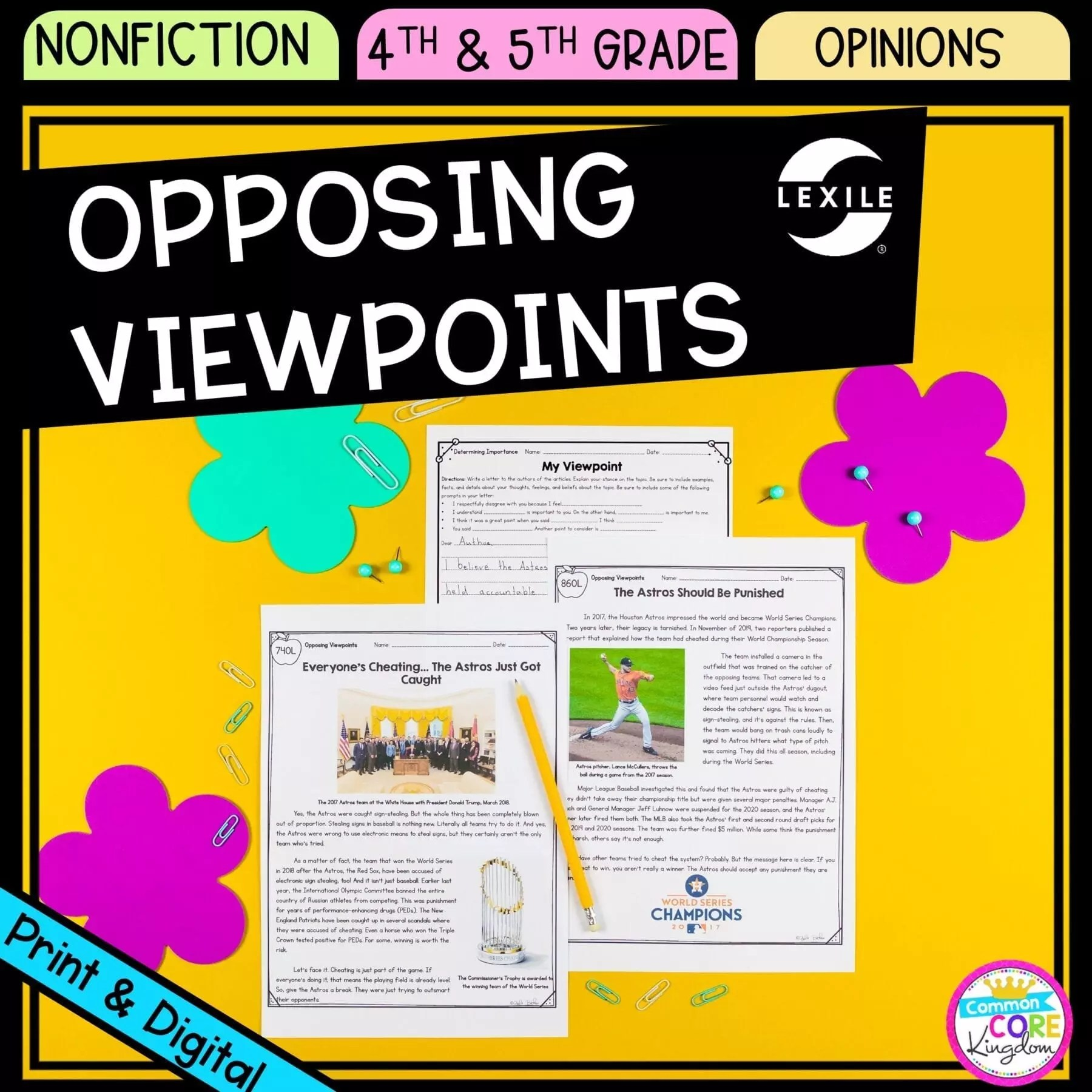 Forming Opinions 4th \u0026 5th Grade - Google Distance Learning   Common Core  Kingdom [ 1800 x 1800 Pixel ]