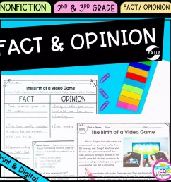 Fact and Opinion 2nd \u0026 3rd Grade - Google Distance Learning   Common Core  Kingdom [ 1800 x 1800 Pixel ]