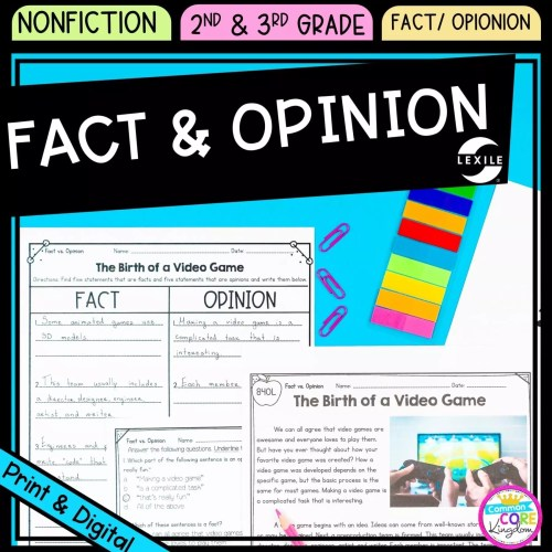 small resolution of Fact and Opinion 2nd \u0026 3rd Grade - Google Distance Learning   Common Core  Kingdom