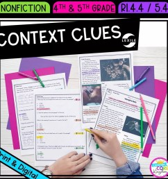 Context Clues in Nonfiction 4th \u0026 5th Grade   Common Core Kingdom [ 1800 x 1800 Pixel ]